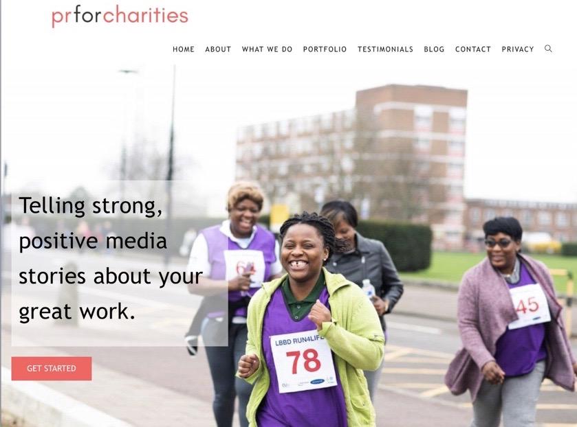 Charity WordPress website design by Brentwood web designer